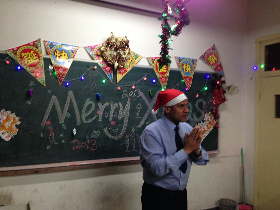 Christmas  Celebration with my Students