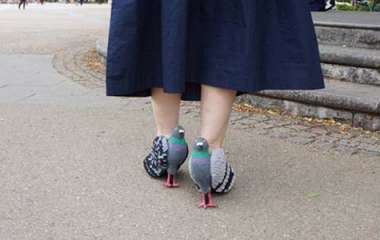 Walking in pigeon shoes