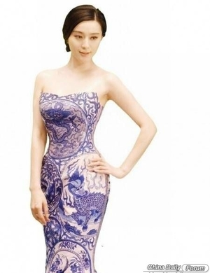 Chinese female stars in cheongsam