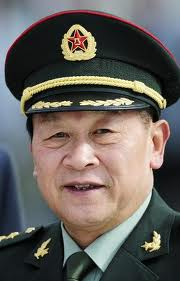 Putting on the HAT of Chinese army chief of staff.jpg