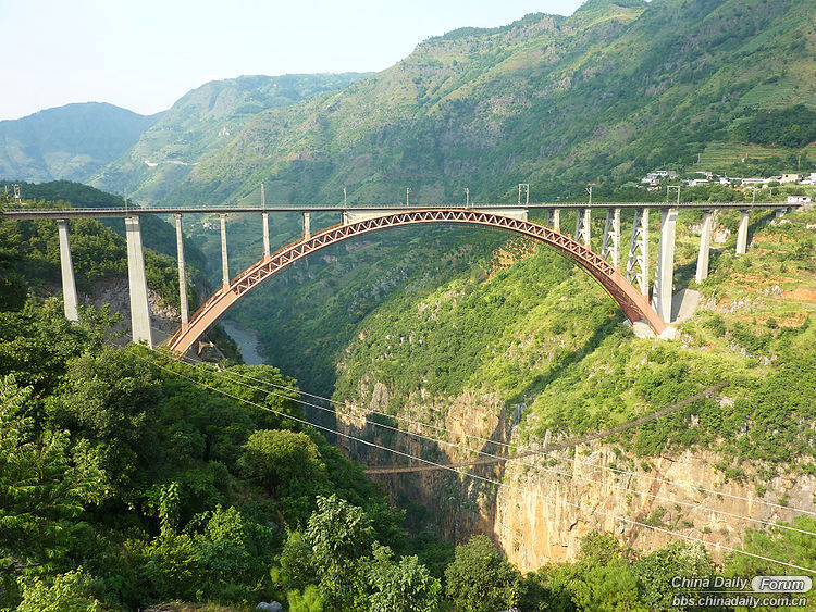 3. Beipanjiang River Railway Bridge Wide George.JPG