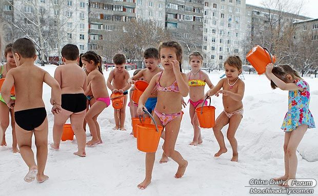 Link to Plucky Siberian kids exercise in MINUS 25C