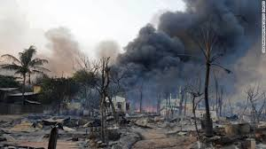 War rohingya riots in Myanmar.jpg