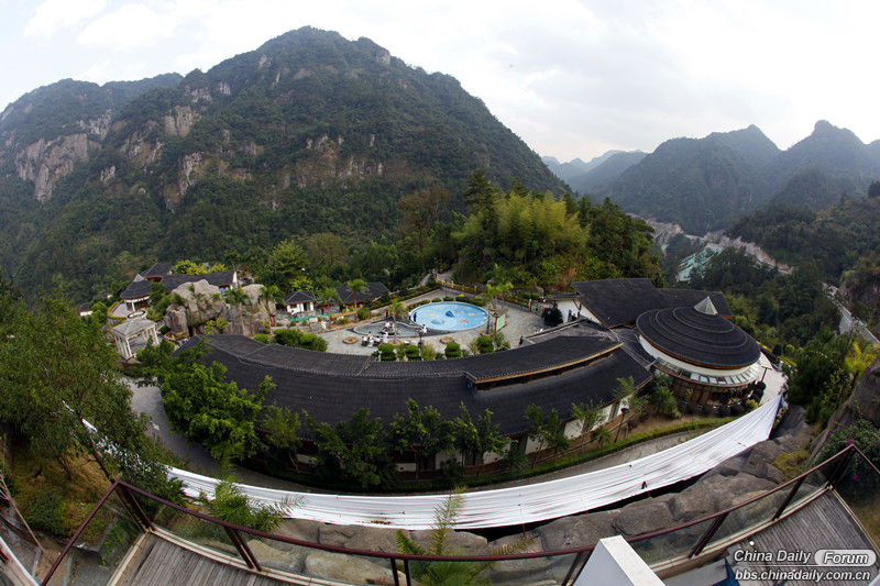 Overview of the hot spring resort.