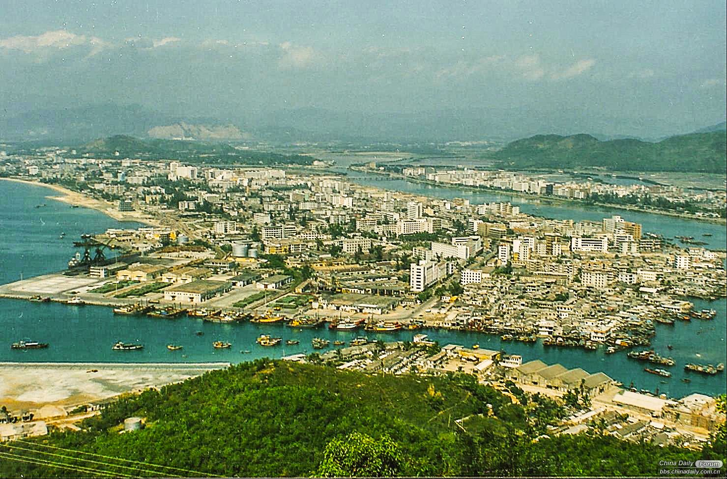 Sanya City from Luhuitou 1993.jpg