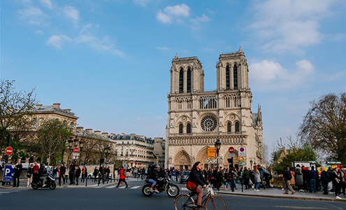 File photos of Notre Dame Cathedra